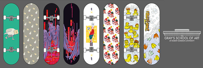 Gray's School of Art - Custom Printed Skateboards