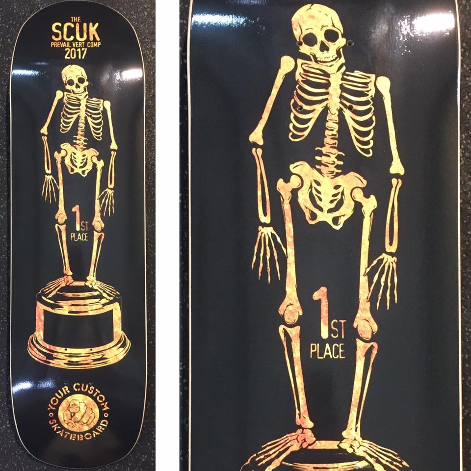 Have a skateboard deck as your competition trophy