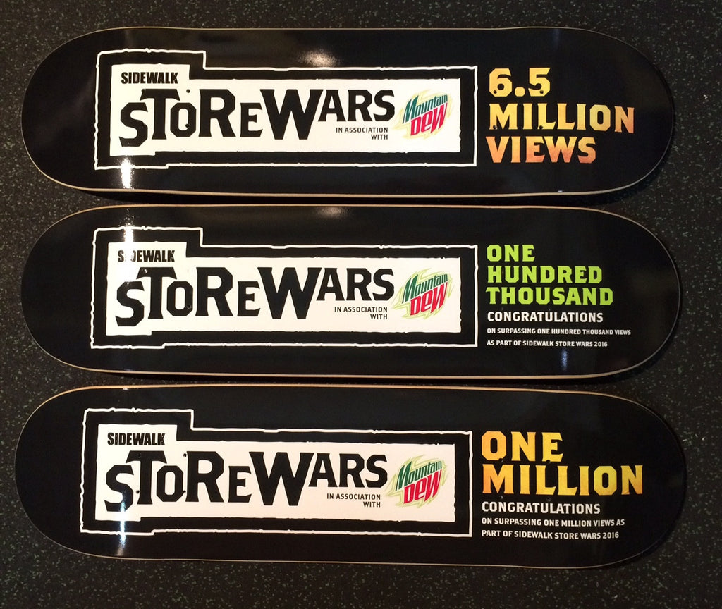Decks for Sidewalk magazine/Mountain Dew Store wars winners - Custom Skateboard Printing