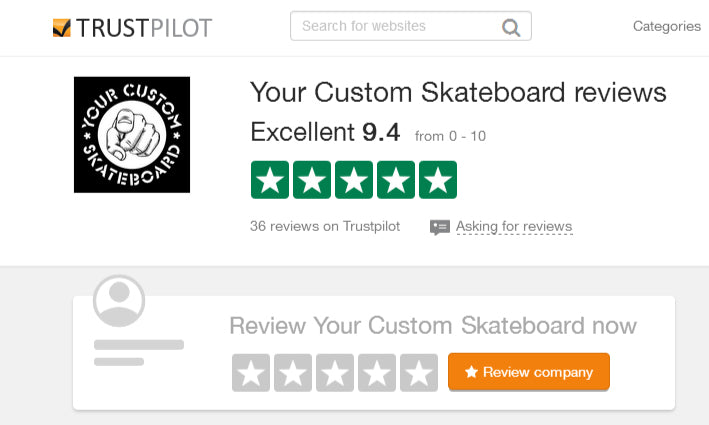 Did you see our feedback for custom skateboard printing UK on trustpilot