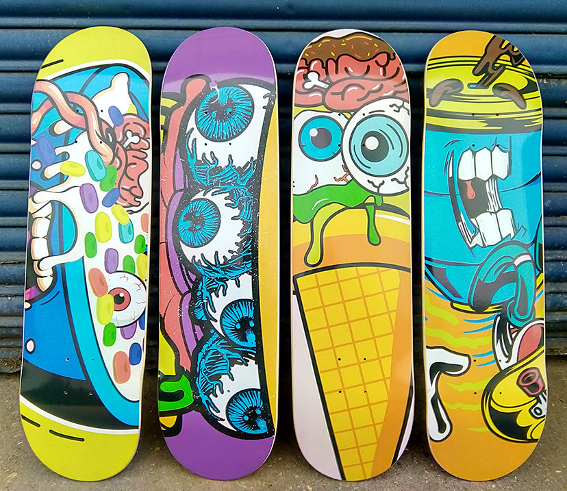 Custome printed skateboard - Cereal Monster