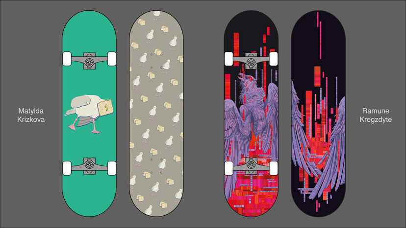 Custom Skateboard Printing - Gray's designs