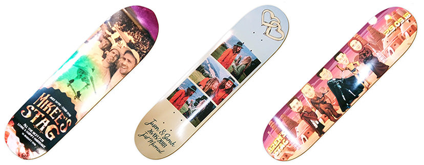 Wedding skateboard decks