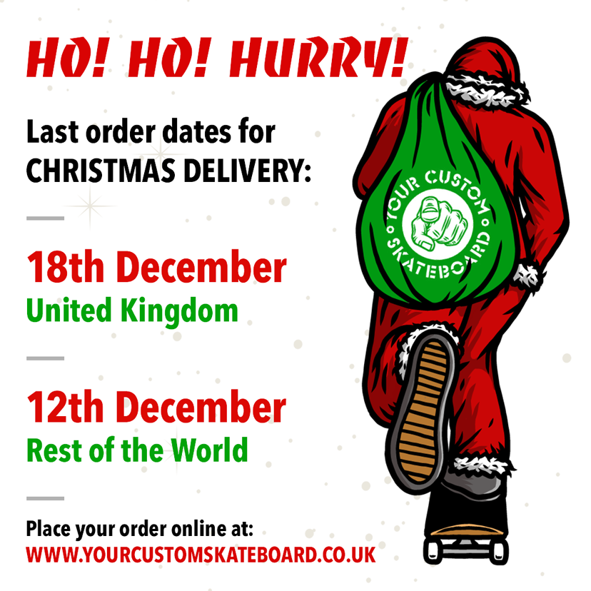 Last orders dates Uk 12th December ROW 18th December