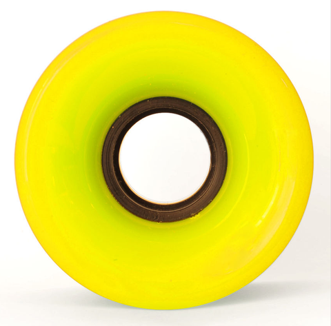 WHEELS CRUISER 60mm NEON YELLOW 83a
