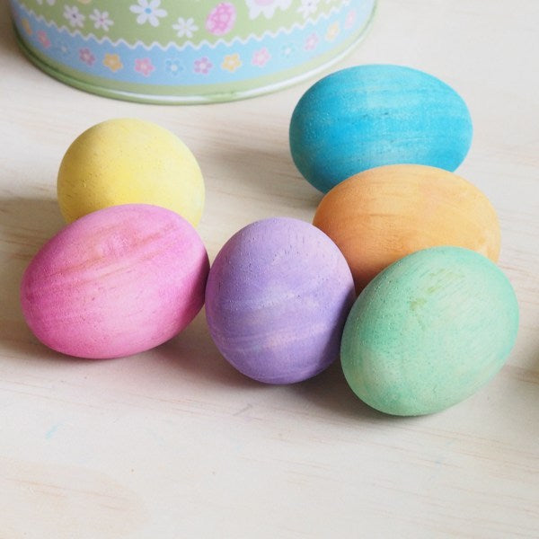 DIY Colourful Wooden Easter Eggs