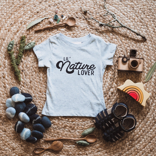 Lil Nature Lover Kids Grey T-Shirt
