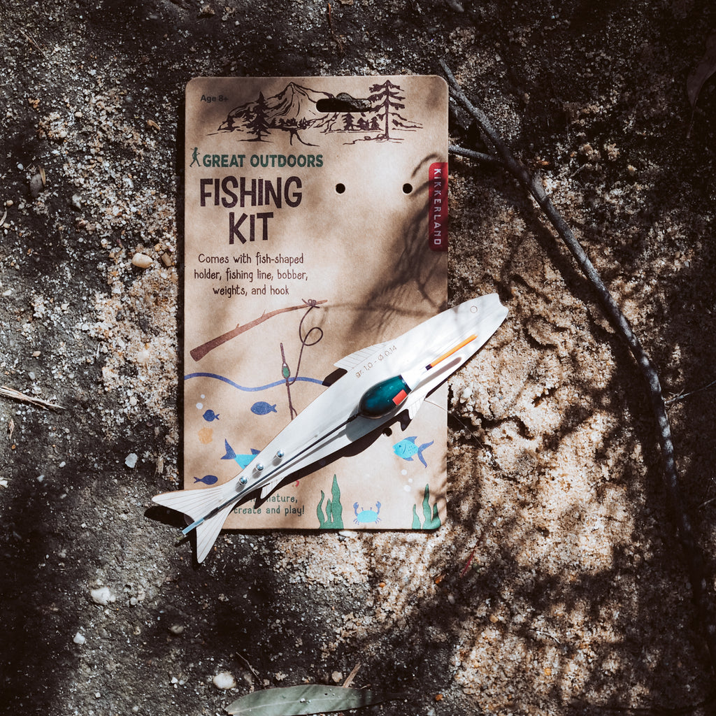 Kikkerland Fishing Kit | Natural Arts & Crafts - Wild Mountain Child