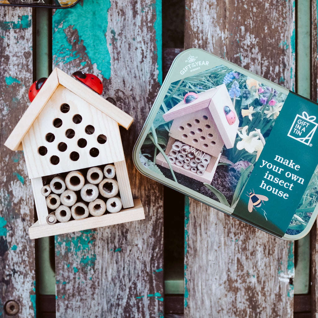 Build your own Insect House - Gift in a Tin