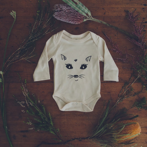 Sneaky Quoll Organic Cotton Baby Bodysuit-Clothing-Wild Mountain Child