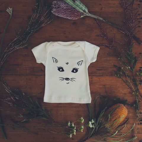 Sneaky Quoll Organic Cotton Baby T-shirt-Wild Mountain Child