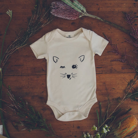 Playful Possum Organic Cotton Baby Bodysuit-Clothing-Wild Mountain Child