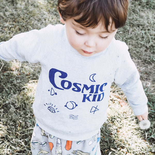 Cosmic Kid Grey Sweater