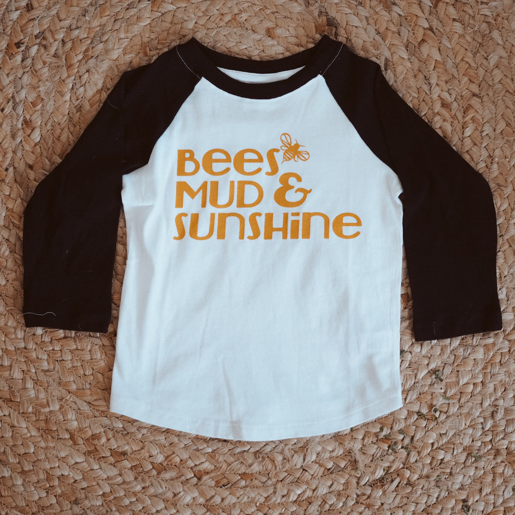Bee's, Mud & Sunshine T-shirt-Clothing-Wild Mountain Child