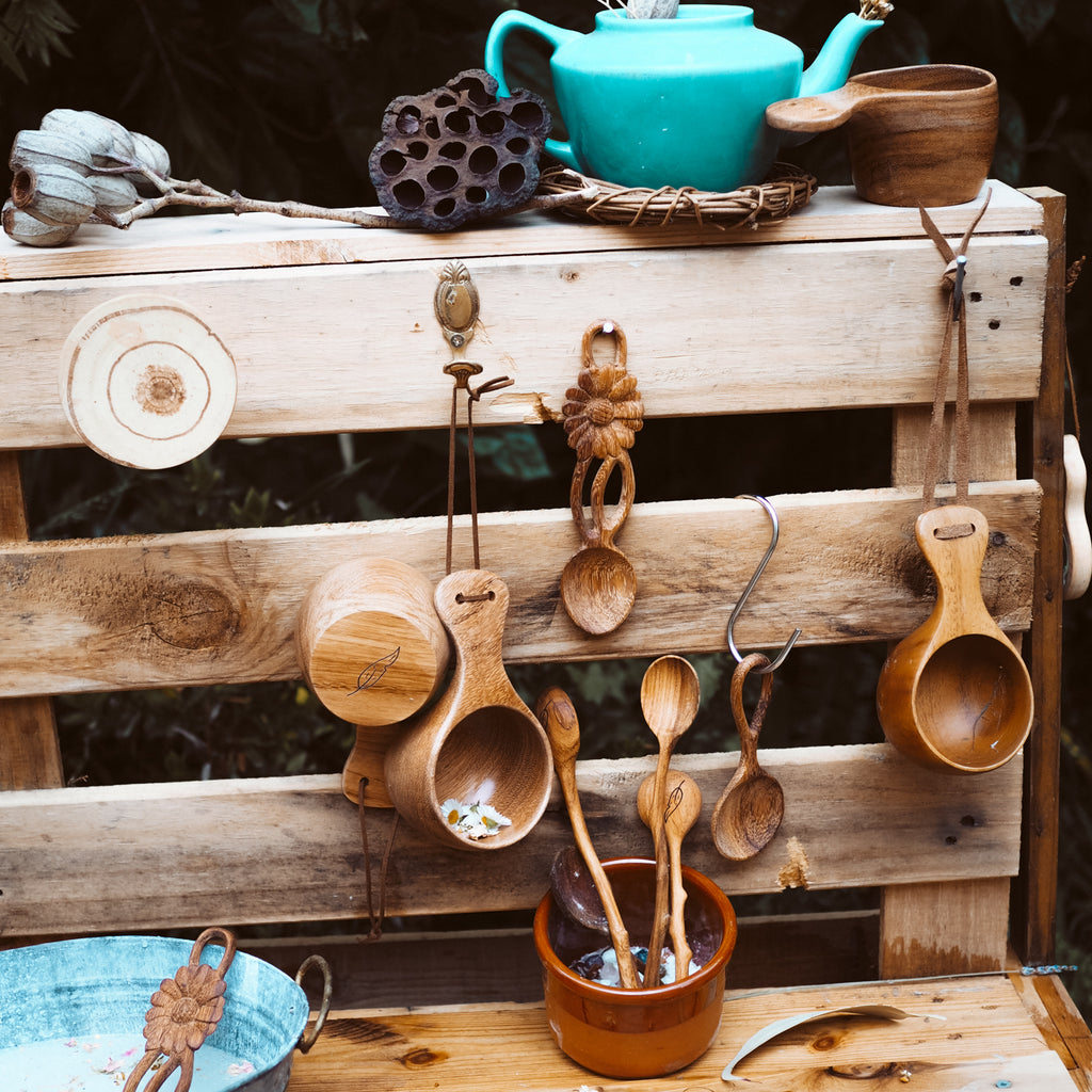 Mud Kitchen Collection | Natural Play Spoons - Wild Mountain Child