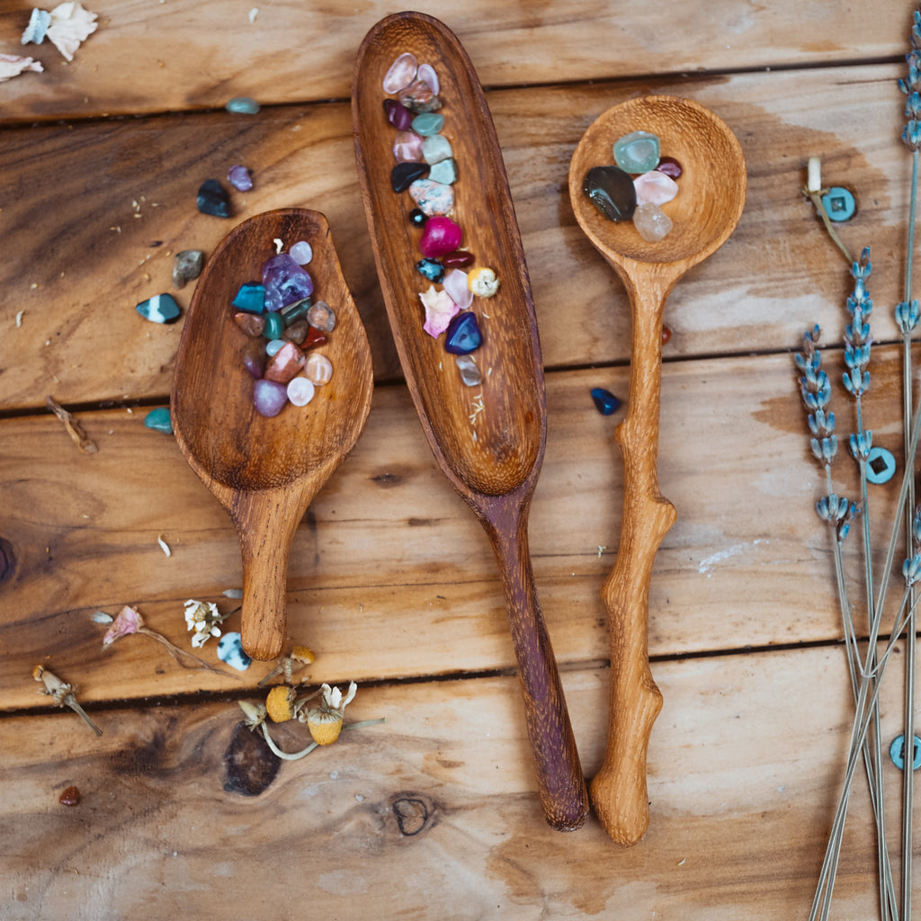 3 Handcrafted Spoons Set | Natural Play Tools - Wild Mountain Child