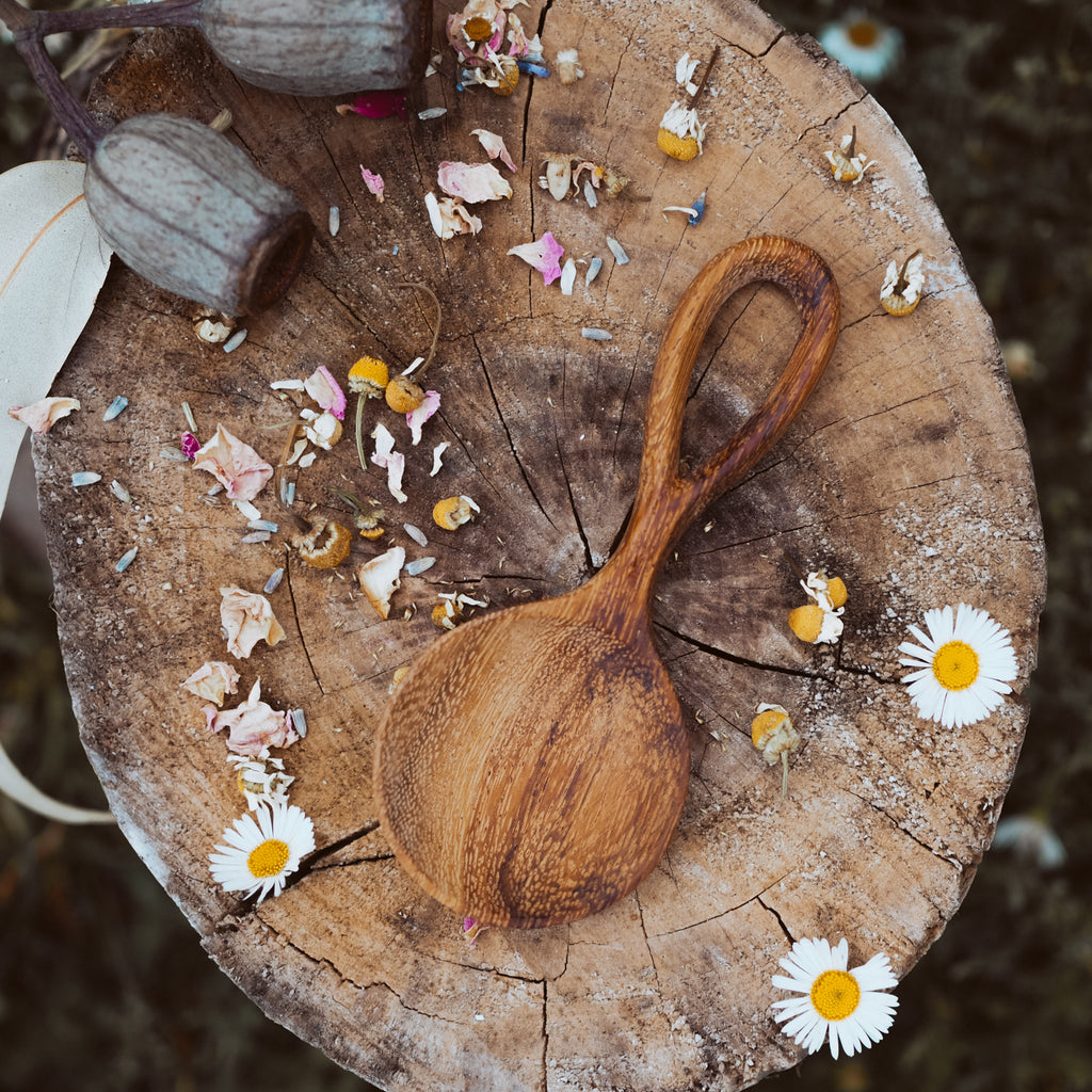 Handcrafted Looped Spoon | Natural Play Tools - Wild Mountain Child