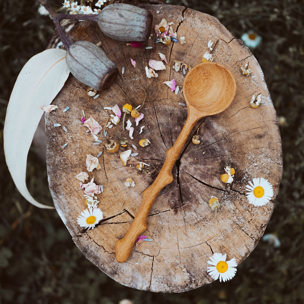 Handcrafted Branch Spoon | Natural Play Tools - Wild Mountain Child