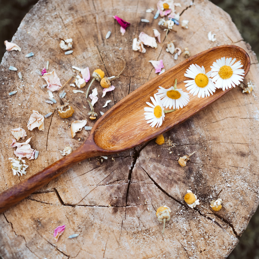 Handcrafted Paddle Spoon | Natural Play Tools - Wild Mountain Child