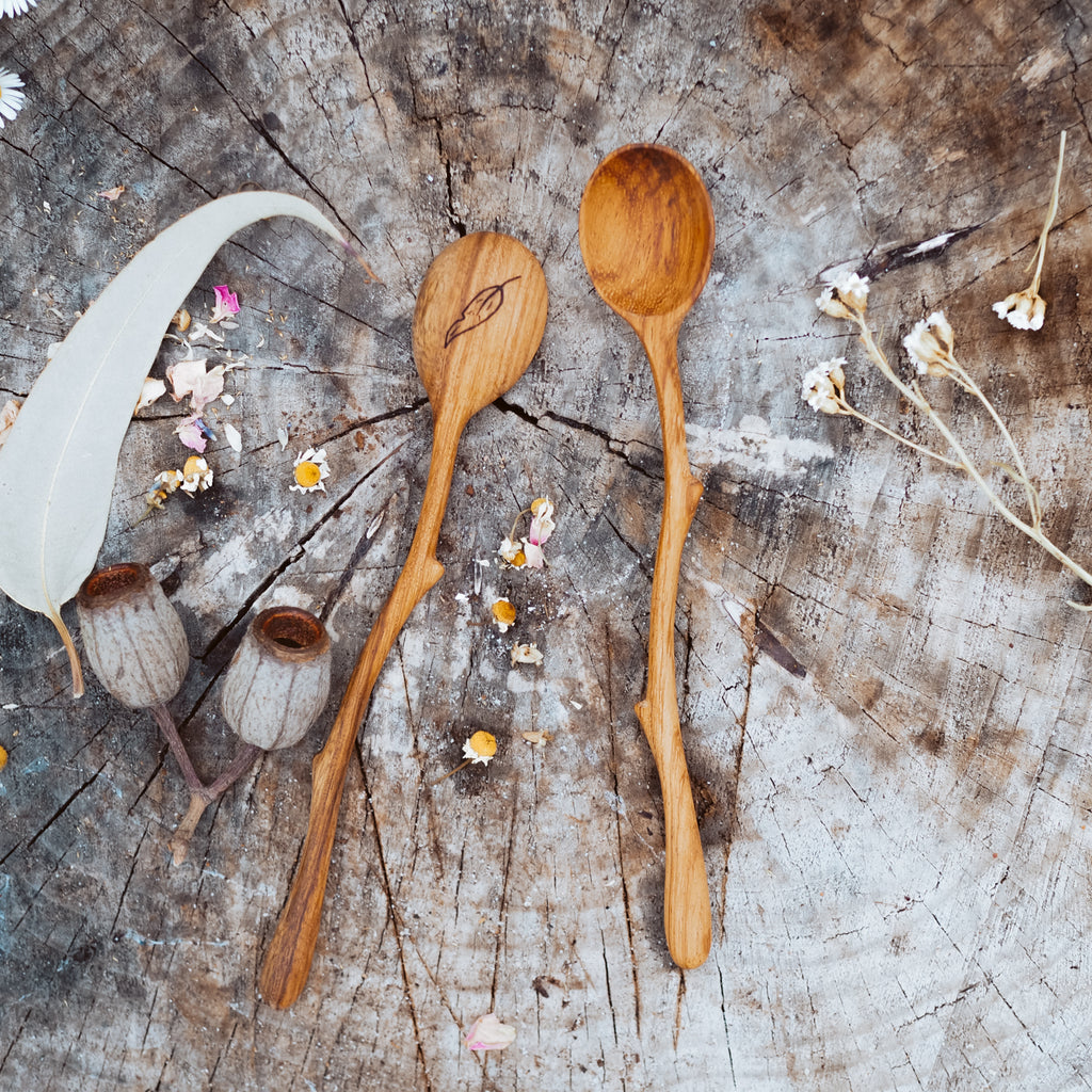 Handcrafted Twig Spoon | Natural Play Tools - Wild Mountain Child