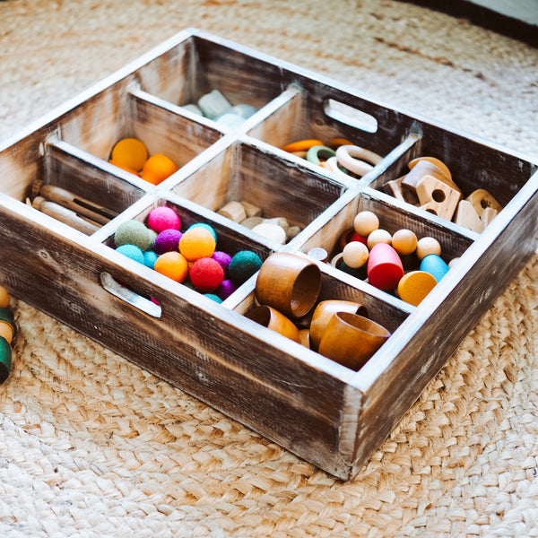 Medium Wooden Sorting Tray