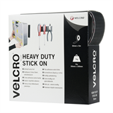 Velcro - Heavy Duty Stick On - Black 50mm