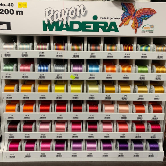 Madeira Rayon No. 40 Embroidery Threads - Select Colours