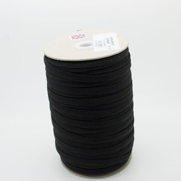 10 Cord (8mm Wide) Elastic - Black/White