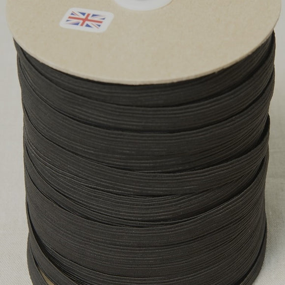 16 Cord (12mm Wide) Elastic - Black/White