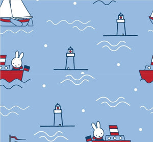 100% Cotton - Miffy on Holiday Sailing - SPECIAL OFFER - Sold by Half Metre