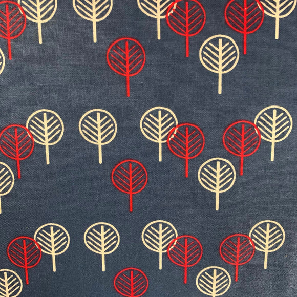 SALE 100% Cotton - Abstract trees - Sold by Half Meter
