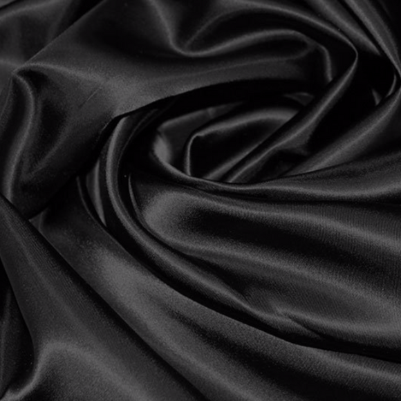 Remnant 308071 0.35m Acetate Satin Black 112cm Wide