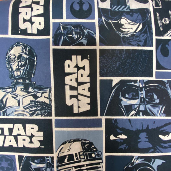 100% Cotton -Star Wars - Characters - Sold By Half Metre