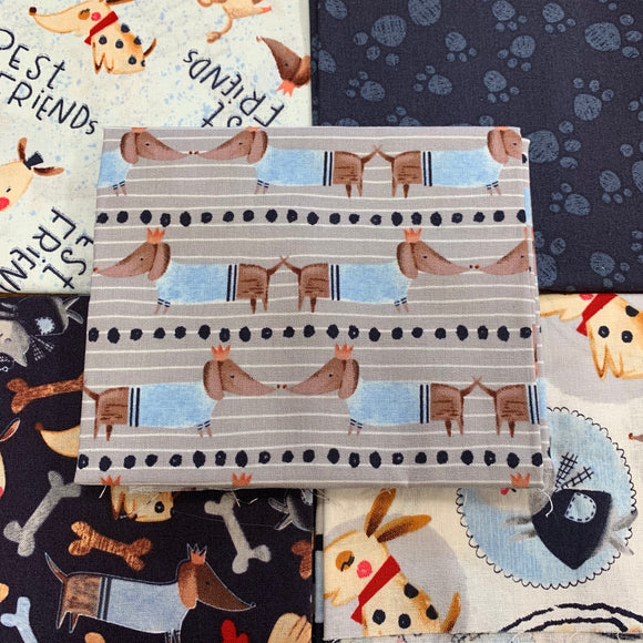 100% Cotton Fat Quarters - Dog Show
