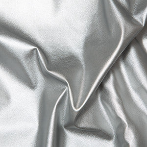 Leatherlook Stretch PU - Silver - Sold By Half Metre