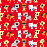 Polycotton Print Children's - Cats and Dogs