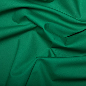 100% Cotton Poplin Plain - Emerald - Sold by Half Metre