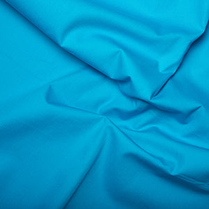 100% Cotton Poplin Plain - Peacock - Sold by Half Metre
