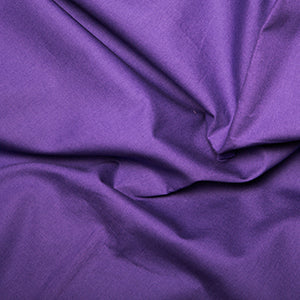 100% Cotton Poplin Plain - Purple - Sold by Half Metre