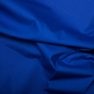 100% Cotton Poplin Plain - Royal Blue - Sold by Half Metre
