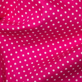 100% Cotton Poplin Spot - Select Colour - Sold by Half Metre