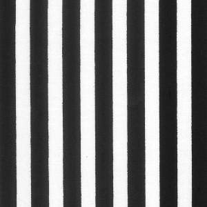 100% Cotton Fat Quarter - Black Candy Stripe
