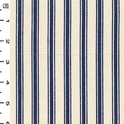 100% Cotton  - Stripe - Navy - Sold by Half Metre