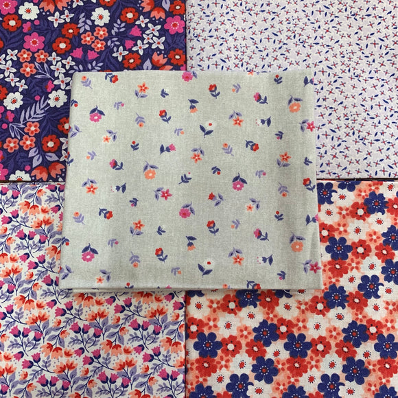 100% Cotton Fat Quarters - Flower Power