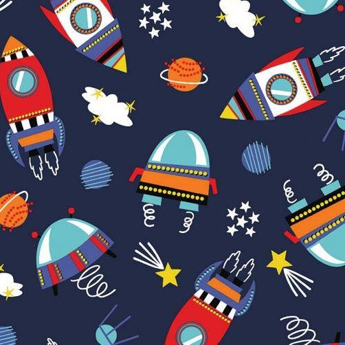 Cotton Jersey - Cosmic - Sold By Half Metre