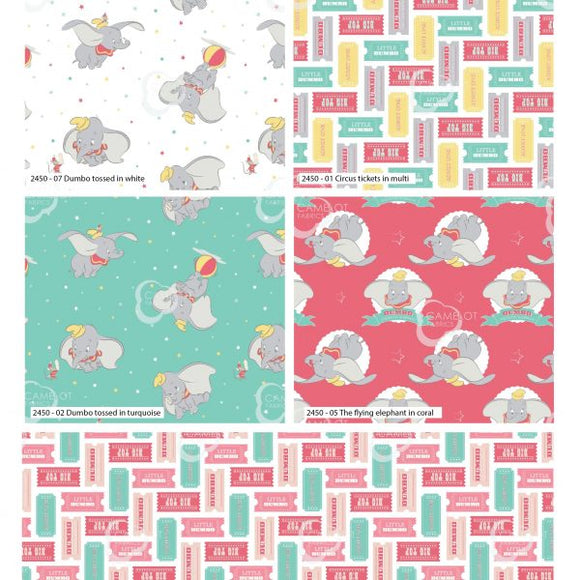 100% Cotton Fat Quarters - Dumbo
