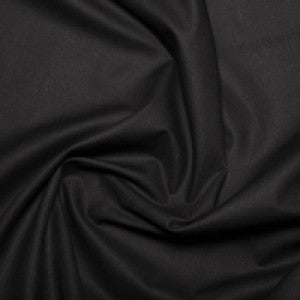 Polycotton Sheeting - Black - Sold By Half Metre