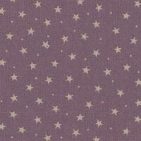 100% Cotton Poplin - Grape Mini Star