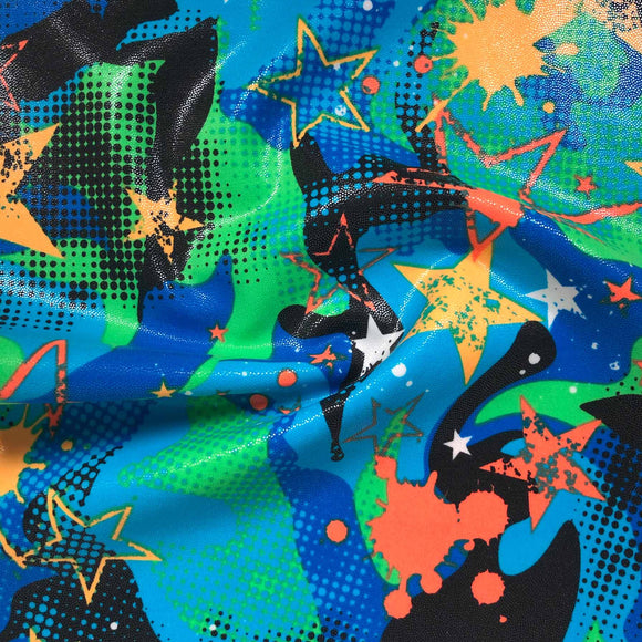 Nylon Spandex - Geo Splash - Sold By Half Metre