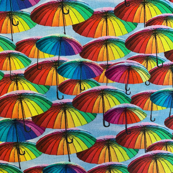 100% Cotton  - Umbrellas - Sold by Half Metre
